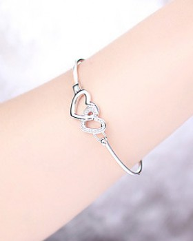 Antique silver wristband fashion bracelet for women