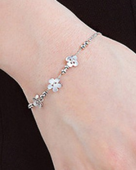 Flowers bracelets antique silver jewelry for women