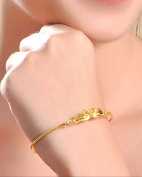 Fashion gold bracelet bow wristband for women