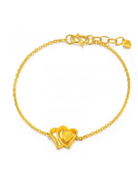 Korean style adjustable accessories gold hard bracelets