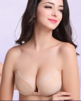 Invisible silicone tracelessness Bra gather wings underwear