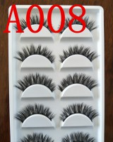Handmade mink hair eyelash 5 pair set