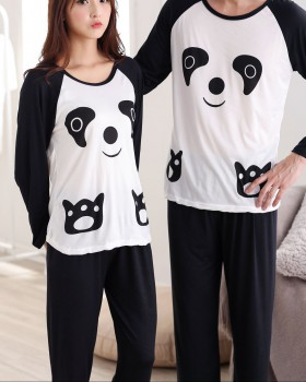 Spring and autumn couples homewear pajamas a set