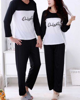 Casual pajamas milk silk long pants 2pcs set for women