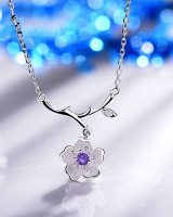 All-match Asian style necklace flowers clavicle necklace