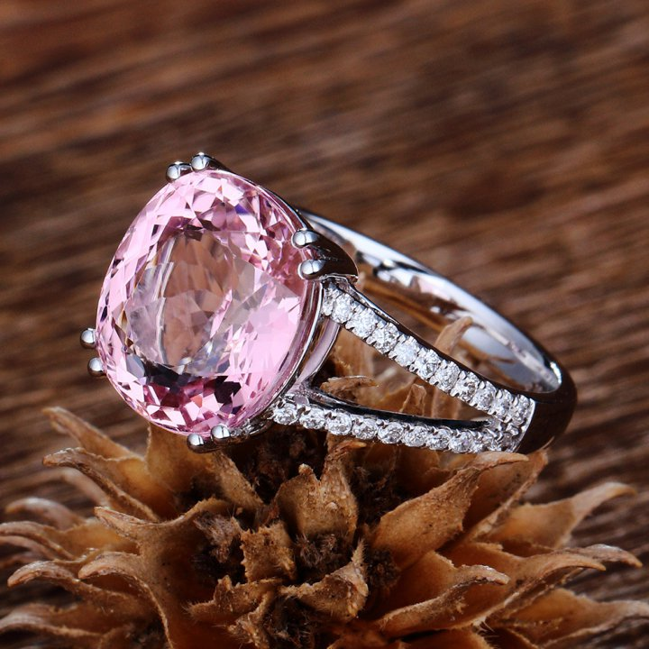 Pink diamond wedding accessories fashion ring