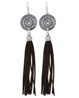 Round fashion retro earrings tassels alloy accessories