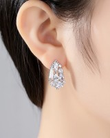 Small drops of water earrings zircon stud earrings