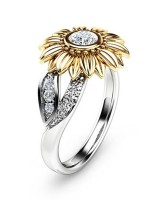 Flowers colors accessories European style ring