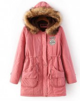 Korean style large yard coat long cotton coat