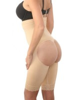 Hip raise thigh conjoined pants seamless lace shapewear