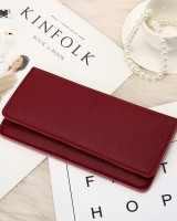 Long hasp temperament simple buff wallet for women