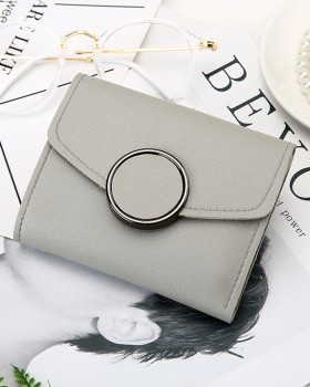 Autumn simple wallet round buckle card bag for women