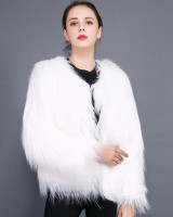Lambs wool large yard coat washed fur coat for women