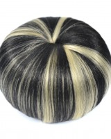 Retro European style beige mixed color chignon