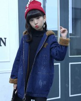 Boy autumn and winter windbreaker denim big child coat