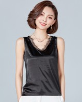 Bottoming loose tops lace spring and summer vest