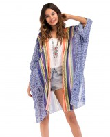 Large yard fashion cardigan chiffon splice smock