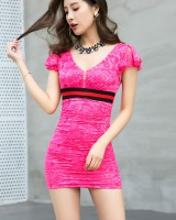 Summer slim lace package hip sexy dress