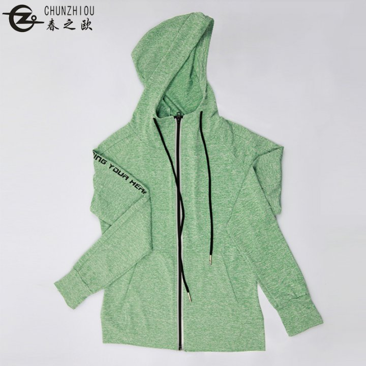 Run outdoor sports spring tops fitness Casual coat for women