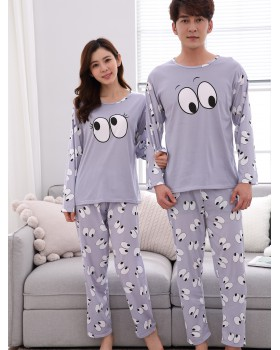 Lovely couples milk silk spring pajamas for women