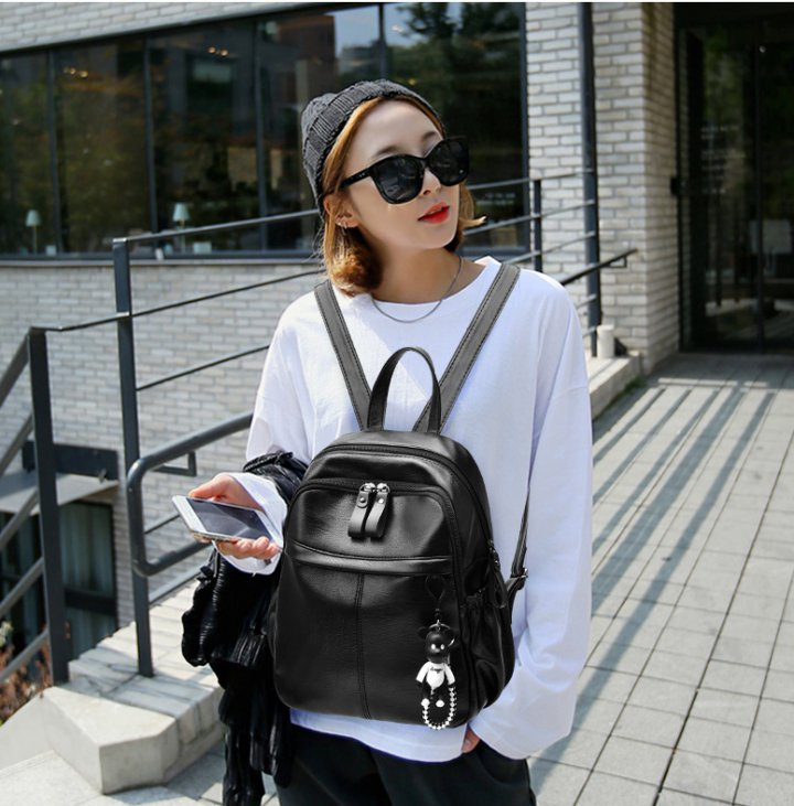 Korean style backpack fashion schoolbag for women