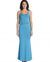 European style sleeveless beach dress pure long dress