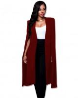 Pure big large yard cloak autumn long coat for women