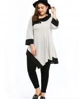 European style lapel tops Casual T-shirt for women