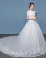Large yard wedding formal dress trailing wedding dress