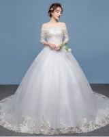 European style dream formal dress slim bride wedding dress