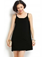 Summer large elasticity strap dress soft cozy vest