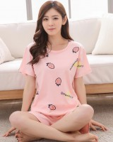 Lovely thin shorts summer homewear pajamas a set for women