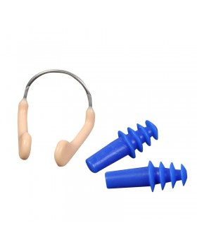 Waterproof silicone earplug steel antiskid nose clip