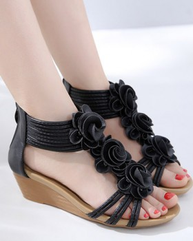 Cozy flowers rome sandals summer slipsole shoes for women