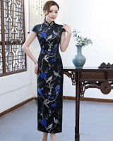 Slim cheongsam cstand collar evening dress for women