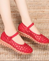 Gum-rubber outsole national style shoes for women