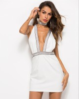 Thoracotomy summer sling halter nightclub knitted dress