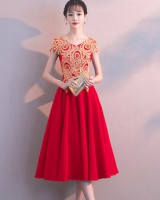 Spring and summer evening dress Korean style dress for women