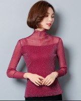Wood ear autumn T-shirt gauze pure bottoming shirt for women