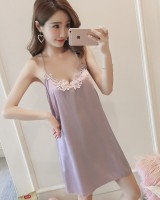 V-neck at home skirt Korean style pajamas for women