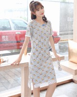 Short sleeve summer night dress conjoined pajamas