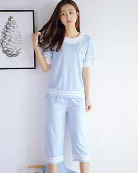 Spring and summer shorts letters pajamas 2pcs set for women