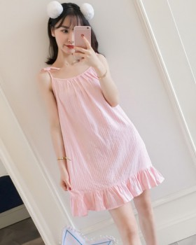 Loose night dress student pajamas for women
