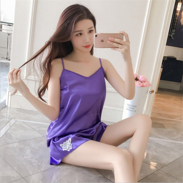 Homewear pajamas summer shorts 2pcs set for women