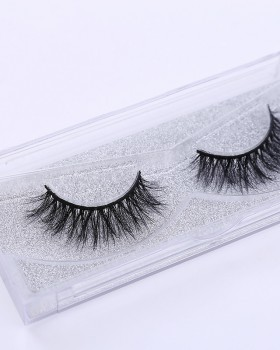 Asian style handmade fake mink hair cross eyelash