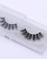 Stereoscopic European style thick mink hair fake eyelash