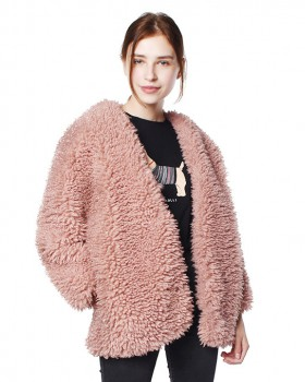Short all-match coat hairy autumn and winter fur coat