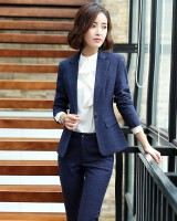 Fashion long pants business suit 3pcs set for women
