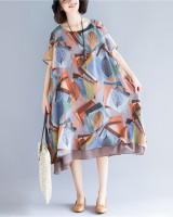 Colors chiffon dress